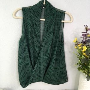 Stitch Fix Market & Spruce houndstooth wrap blouse